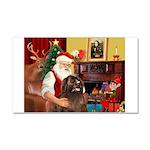Santa's Newfoundland Car Magnet 20 x 12