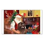 Santa's Newfoundland Sticker (Rectangle 10 pk)