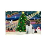 Xmas Magic & Newfie Rectangle Magnet (10 pack)