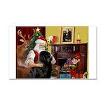 Santa's Newfie Car Magnet 20 x 12