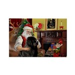 Santa's Newfie Rectangle Magnet (10 pack)