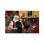 Santa's Newfie Rectangle Magnet