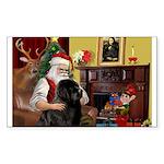 Santa's Newfie Sticker (Rectangle)