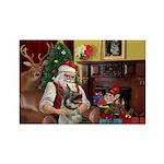 Santa's Norwegian Elk Rectangle Magnet