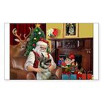 Santa's Norwegian Elk Sticker (Rectangle 10 pk)