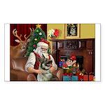 Santa's Norwegian Elk Sticker (Rectangle)