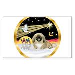 Wisemen/Pekingese Sticker (Rectangle)