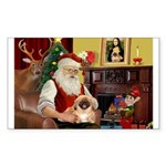 Santa's Pekingese Sticker (Rectangle 10 pk)