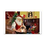 Santa's Pekingese Rectangle Car Magnet