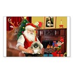Santa's Pekingese Sticker (Rectangle)