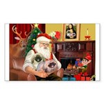 Santa's 2 Pekingese Sticker (Rectangle 50 pk)