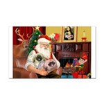 Santa's 2 Pekingese Rectangle Car Magnet