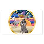 XmasStar/Silver Poodle #8 Sticker (Rectangle 50 pk