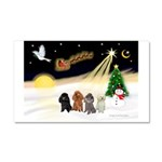 Night Flight/4 Poodles Car Magnet 20 x 12