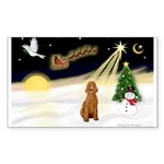 Night Flight/Apricot Poodle ( Sticker (Rectangle 5
