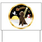 Night Flight/Poodle Std(choc) Yard Sign