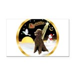 Night Flight/Poodle Std(choc) Rectangle Car Magnet