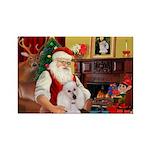 Santa's Std Poodle(w) Rectangle Magnet