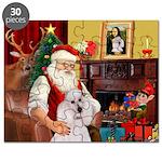 Santa's Std Poodle(w) Puzzle
