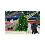 XmasMagic/ 2 Std Poodles Rectangle Magnet (10 pack