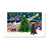 XmasMagic/ Std Poodle Car Magnet 20 x 12