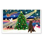 XmasMagic/ Std Poodle Sticker (Rectangle 10 pk)