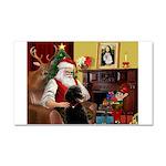 Santa's Poodle (ST-B4) Car Magnet 20 x 12