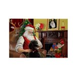 Santa's Poodle (ST-B4) Rectangle Magnet