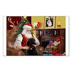 Santa's Poodle (ST-B4) Sticker (Rectangle 50 pk)