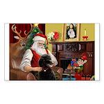 Santa's Poodle (ST-B4) Sticker (Rectangle)