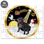 Night Flight/Pug (black) Puzzle