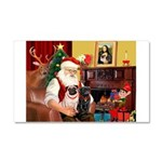 Santa's Two Pugs (P1) Car Magnet 20 x 12