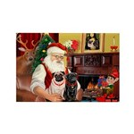 Santa's Two Pugs (P1) Rectangle Magnet (10 pack)