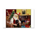Santa's Black Pug Car Magnet 20 x 12