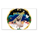 XmasSunrise/Pug Sticker (Rectangle)
