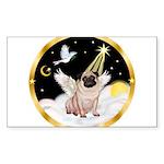 Night Flight/ Pug Sticker (Rectangle 50 pk)