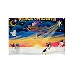XmasSunrise/Rat Ter #1 Rectangle Magnet (10 pack)