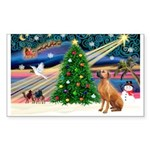 XmasMagic/Rhodesian RB Sticker (Rectangle 50 pk)
