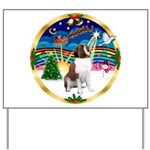 XmasMusic 3/ St Bernard #1 Yard Sign