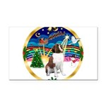 XmasMusic 3/ St Bernard #1 Rectangle Car Magnet