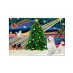 Xmas Magic & Samo Rectangle Magnet