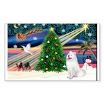 Xmas Magic & Samo Sticker (Rectangle 50 pk)