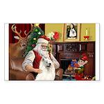 Santa's Samoyed Sticker (Rectangle 10 pk)