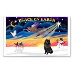 XmasSunrise/Schipperke Sticker (Rectangle 10 pk)