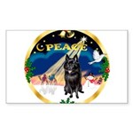 XmasSunrise/Schipperke Sticker (Rectangle)