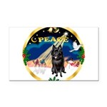 XmasSunrise/Schipperke Rectangle Car Magnet