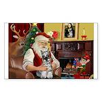 Santa's Mini Schnauzer Sticker (Rectangle 10 pk)