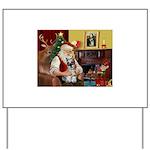 Santa's Mini Schnauzer Yard Sign