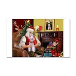 Santa's Schnauzer (9) Car Magnet 20 x 12