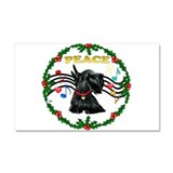 Cute Scottish terrier Car Magnet 20 x 12